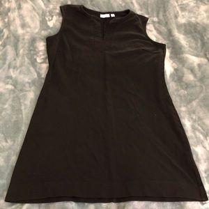 NY&C black v neck tank dress - size XL